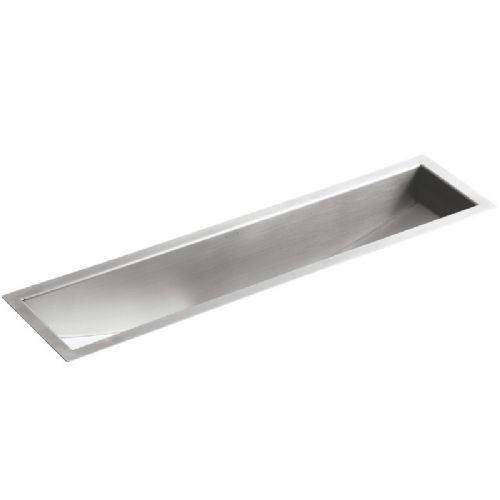 Kohler Icerock Trough Under-Mount Stainless Steel Kitchen Sink - 3187-NA